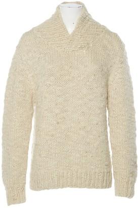 DKNY Beige Wool Knitwear