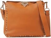 Valentino Garavani Rockstud Pebbled-leather Shoulder Bag