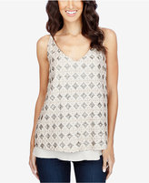 Lucky Brand Printed Layered-Look Tank Top