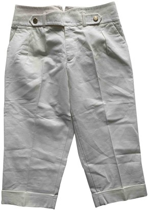 Gucci White Cloth Trousers