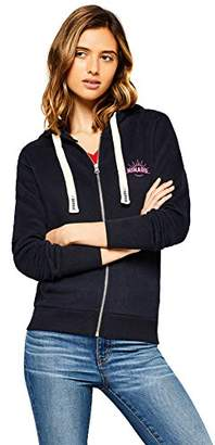 HIKARO Women's Hikaro Logo Zip Sweatshirt Hoodie,(Manufacturer size: Small)