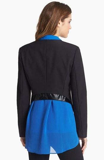 Kenneth Cole New York 'Pilar' Leather Trim Blazer