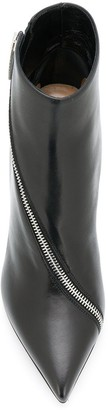 Sergio Rossi Pointed Asymmetric Zipped Boots