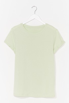 Nasty Gal Womens On Top Cotton Tee - Tan - S