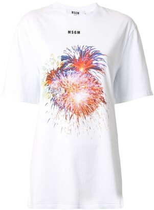 MSGM Short Sleeve Print T-Shirt
