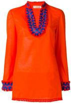 Tory Burch embroidered tunic top - women - Cotton - 12