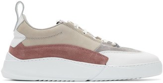 Filling Pieces Grey and White Denver Speed Split Sneakers