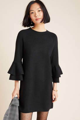 Anthropologie Claudette Ruffled Sweater Dress