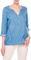Soft Joie Long Sleeve Chambray Top