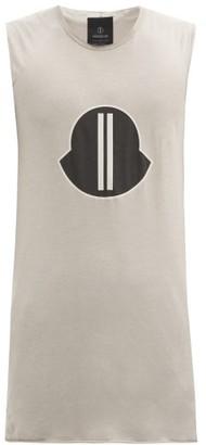 Moncler + Rick Owens Logo-print Cotton-jersey Tank Top - Grey