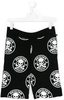 Philipp Plein Junior skull print shorts