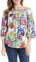 Karen Kane Off-the-Shoulder Floral Top