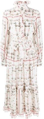 Etro Ruffled Floral Maxi Dress