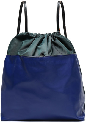 Marni Leather-paneled Shell Backpack