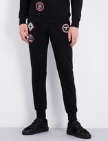 Boy London Patch-detailed cotton-jersey jogging bottoms