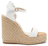 Sophia Webster Cassia Embroidered Espadrille Wedge Sandals - Womens - White