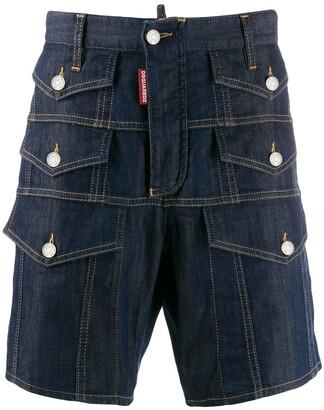 DSQUARED2 Multiple Pocket Denim Shorts
