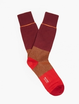Paul Smith Red Contrasting Panelled Socks
