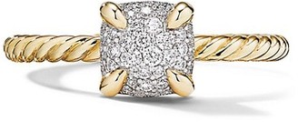 David Yurman Chatelaine Ring in 18K Yellow Gold with Full Pave Diamonds
