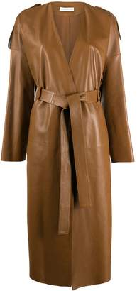 Inès & Marèchal Glamour leather trench coat