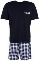 Schiesser Pyjama Set Dunkelblau
