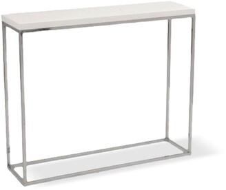 Apt2B Kings Road Console Table WHITE/CHROME