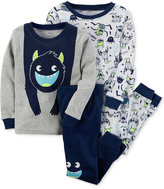 Carter's 4-Pc. Monster Pajamas Set, Toddler Boys (2T-5T)