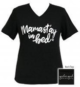Canvas Mamastay Black V-Neck