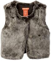 Joe Fresh Faux Fur Vest (Toddler & Little Girls)