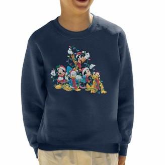 Disney Mickey Mouse & Co Christmas Lights Kid's Sweatshirt Cherry Red