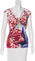 Roberto Cavalli Abstract Print Sleeveless Top