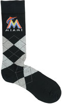 For Bare Feet Miami Marlins Argyle Dress Socks