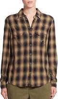SET Women's Buffalo Plaid Western Shirt