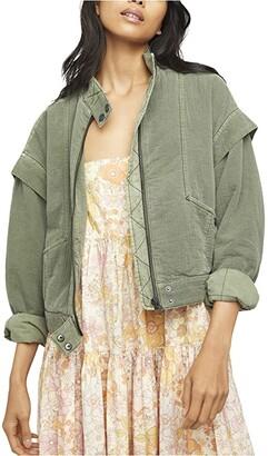 Free People Florence Bomber Jacket (Olive Smoke) Women's Clothing