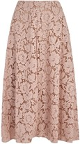 Valentino Blush Lace Midi Skirt