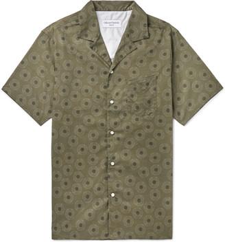 Officine Generale Dario Camp-Collar Printed Cotton Shirt - Men