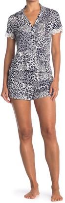 Josie Leopard Print 2-Piece Pajama Set