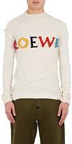 Loewe Men's Frayed-Logo Cotton-Silk T-Shirt