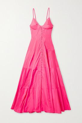 Jacquemus Manosque Tiered Taffeta Maxi Dress - Bright pink