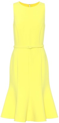 Oscar de la Renta Belted crepe dress