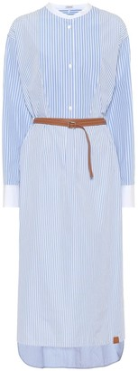 Loewe Striped cotton shirt dress