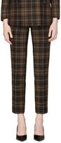 Suistudio Lane Classic Windowpane Check Wool & Cashmere Blend Trousers