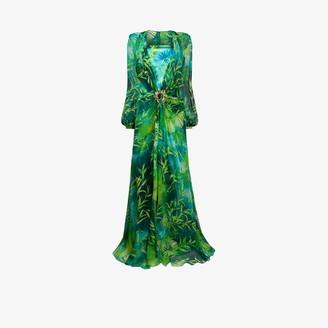 Versace Jungle print silk maxi dress
