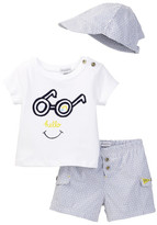 Absorba Top, Short, & Hat Set (Baby Boys)