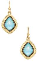 Armenta Old World 18K Gold, Turquoise & Rainbow Moonstone Petite Carved Kite Drop Earrings