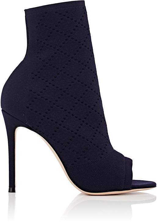 Gianvito Rossi Women's Perforated Knit Ankle Boots