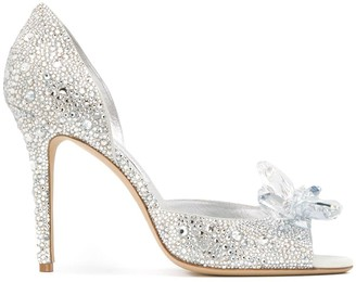 Jimmy Choo Anilla 100mm crystal-embellished pumps