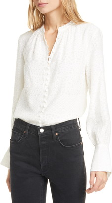 Joie Tariana Jacquard Long Sleeve Blouse