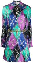 Gucci Diamond Print Silk Dress