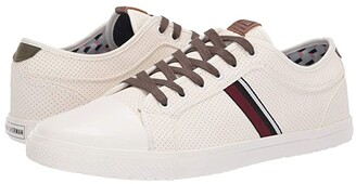 Ben Sherman Brayson Ox (White/Olive) Men's Lace up casual Shoes